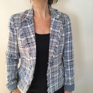 Jackets & Blazers - Reitmans tweed like frayed blazer